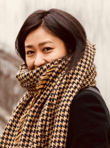 Girl muffled up in a scarf